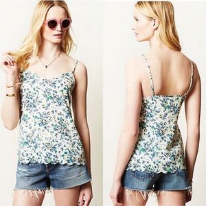 Anthro E by Eloise Floral Scallop Tank & Shorts